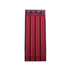 rubinrød overdryppet ren stearinlys
