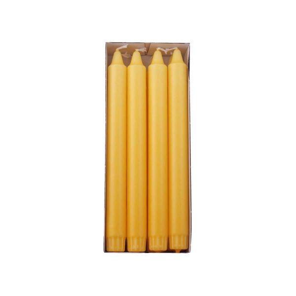 gult overdryppet ren stearinlys